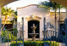 beautiful courtyard entrance
