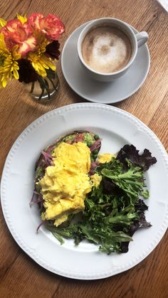 Avocado 🥑 toast with scrambled eggs 🥚 #heaveninaplate