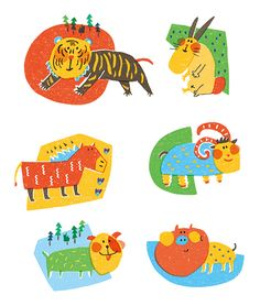 - 12 chinese zodiac - on Behance