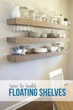 How to Build SIMPLE FLOATING SHELVES (…for any room in the house!) | Make It and Love It | Bloglovin'