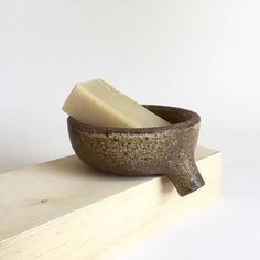 BROWN RUSTIC Soap Dish with strainer for bathroom sink