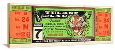 1950 LSU football ticket art. Great vintage sports art! Available soon at http://www.shop.47straightposters.com/
