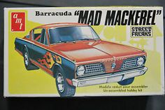 "AMT 1:25 scale Barracuda ""Mad Mackerel"" Funny Car"