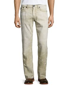 Ricky Recycled Slim Denim Jeans, Khaki, Women's, Size: 31 - True Religion