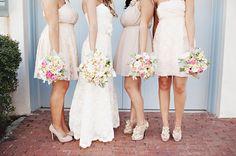 blush bridesmaid dresses, loove this combo @Terri-Lynn Cahill @Cori Kellar @jessica Burns @Katelyn Luck