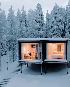 winter wonderland escape ⛄️ The executive suite at i . A winter wonderland escape ⛄️ The executive suite at i .,A winter wonderland escape ⛄️ The executive suite at i ., Looking for the best destination in Europe this winter? Container Home Designs, Glass Cabin, Treehouse Hotel, Design Exterior, Executive Suites, Winter Cabin, Beautiful Hotels, How Beautiful, Cabins In The Woods