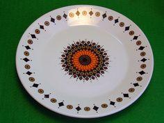 "Vintage Retro 1970s J&G Meakin Inca RARE Side Plate Orange Brown Shabby Chic 7"" | eBay"