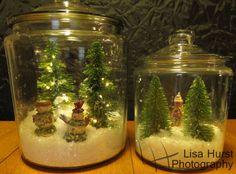 Cookie jar snowglobes. Greenthumb@threepines blog