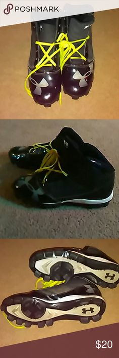 Under armour cleats Only worn a few times and my son outgrew them Under Armour Shoes Athletic Shoes