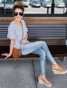 Striped Knotted Tee | Hollie Elizabeth | A Lifestyle, Fashion & Beauty Blog by Hollie Woodward