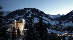 Gstaad Palace - hotel offering a breathtaking view of the Swiss Alps. old landmark of Gstaad Top Honeymoon Destinations, Amazing Destinations, Winter Destinations, Grand Chalet, Ski Chalet, Places To Travel, Places To Go, Ski Vacation, European Vacation