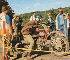 Photo of #216 Petr Camus of the victorious Czech Trophy Team ISDT 1973