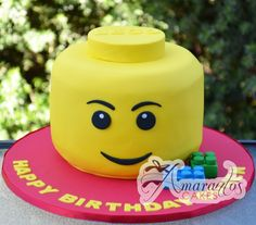 Lego head cake                                                                                                                            Plus