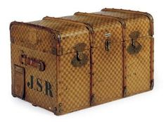Late 19th century french steamer trunk. I have one like this.  They are wonderful for storing out of season comforters, etc.