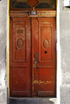 Rustic door, across the street from Copernicus House, Torun.