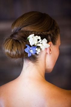 Braided Wedding Hairstyle---love this, but instead of bun have hair flowing down opposite shoulder