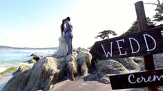 Carmel Beach Wedding Highlight Video ....I loved everything about this wedding couple. She did her own make up. Her hair is gorgeous. He is sweet, and the location is perfect.