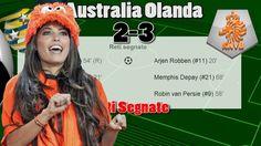 Australia Olanda 2-3 Robben e Van Persie Gol - Mondiali 2014 Tabellino