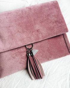 "makinginfinity:  ""NEW Frachella velvet clutch 💓  #frachella #new #handmade #velvet #clutch #fashion #style #design  """
