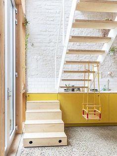 Interior Stairs, Interior Architecture, Interior And Exterior, Küchen Design, House Design, Sweet Home, Ideas Hogar, Staircase Design, Minimalist Home