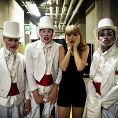 Taylor Swift backstage at her concert.