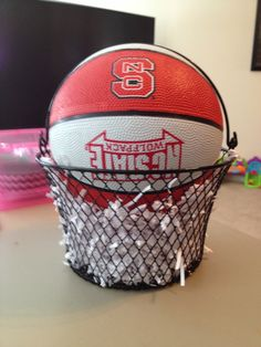 Found These Cute Baskets At The Dollar Tree And Thought They Looked Like  Basketball Nets.