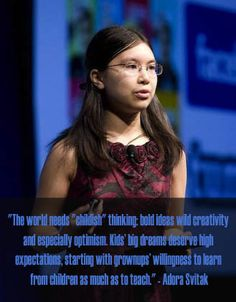 We honor July as 'National Make a Difference to Children Month,' with a quote from a child prodigy