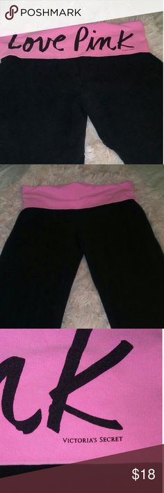 Victorias secret yoga leggings size medium Super cute yoga leggings by  Victoria secret good used condition see pictures Victoria's Secret Pants Leggings