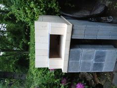 Completed, dry stack oven... (No mortar used, angle iron used as top support for bricks)