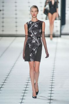 Jason Wu at New York Fashion Week Spring 2013 - StyleBistro. Fabric mix