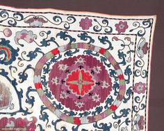 Embroidered Suzani, Central Asia, 19th C, Augusta Auctions, April 9, 2014 - NYC, Lot 42