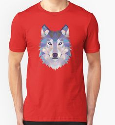 Game Of Thrones Polygonal Dire Wolf | RedBubble Unisex Red TShirt | All Sizes Available for Men and Women @redbubble