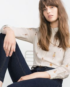Image 3 of PRINTED BLOUSE from Zara