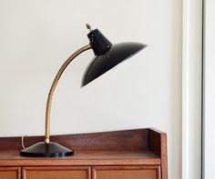 Vintage Mid Century Meets Rustic Industrial Gooseneck Desk Lamp