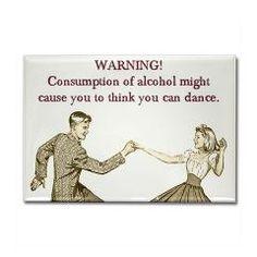 Drunken Dancing Rectangle Magnet > Funny Fridge Magnets > Cafe Pretzel T-Shirts & Gifts