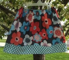 Girls Market Skirt Modern Flora Size 12m to size  by Amievoltaire, $23.50