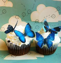 Edible butterfly cupcake and cake toppers, $9.95