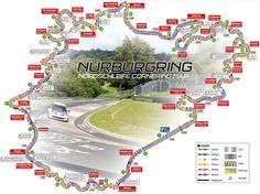Nordschleife map with corner names and racing line. Look for the corners from the Top-5 Mistakes video and see where they are located, to get the picture right.