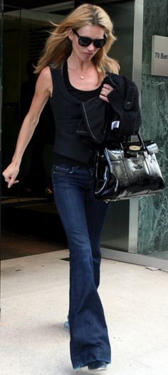 Kate Moss in black & jeans
