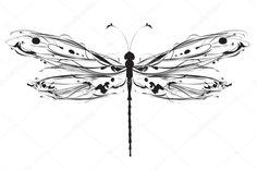 Descargar - Libélula de diseño abstracto — Ilustración de Stock #29235293