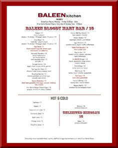 BALEENkitchen Bloody Mary Brunch Join us Mother's Day in BALEENkitchen for our famous bottomless - 'Make Your Own' Bloody Mary Bar and unlimited mimosas! The Bloody Mary Bar features 20 different hot sauces from around the world, fancy garnishes and special spices for just $15! BALEENkitchen will also feature outdoor Marina side dining, our A La Carte Brunch Menu and additional Mother's Day Specials created by Chef Richard! Baleen Kitchen #mothersday #bloodymarys #redondobeach Bloody Mary Bar, Hot Sauces, Mothers Day Special, Brunch Menu, Mimosas, Restaurants, Spices, Hotels, Join