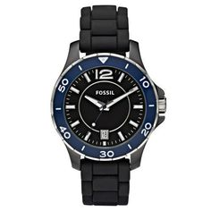 Fossil Women's Classic Quartz Black Band Black Dial
