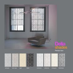 """Introducing """"Persian Lace,"""" a new pattern from Delia Shades. Get a free estimate for your own project here: http://www.deliashades.com/quote.php  #PersianLace #Persian #WindowTreatments #Moorish #NewPattern #DeliaShades #SolarShades #RollerBlinds"""