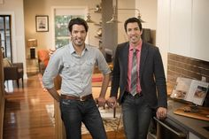 Drew and I reveal our top home renovation tips/trends for 2014 in this new Boston Globe feature! Jonathan Y Drew Scott, Jonathan Silver Scott, Property Brothers, Scott Brothers, Twin Brothers, Home Improvement Contractors, Basement Remodeling, Home Renovation, Home Projects