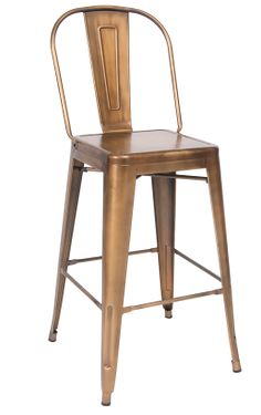$49 a unit, 30in H. Bronze Finish Tolix Metal Barstool