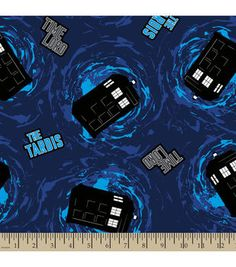 Doctor Who Time Lord Fleece Fabric
