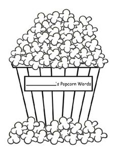 my most downloaded freebie! blank popcorn pieces for