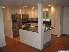 kitchen islands designs with pillars | kitchen with columns | kitchen-island-with-column