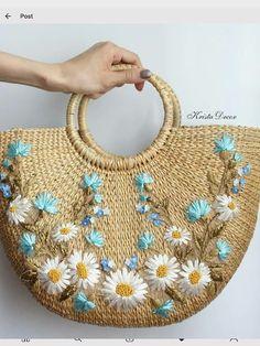 #Bag #cool       Cool bag Embroidery Bags, Macrame Bag, Jute Bags, Basket Bag, Crochet Handbags, Knitted Bags, Handmade Bags, Straw Bag, Purses And Bags