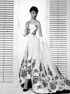 """Audrey Hepburn """"Sabrina Fair""""  1954, """"Sabrina"""" Directed by Billy Wilder. Custome by Edith Head. Photographic Print from Art.com, $29.99"""